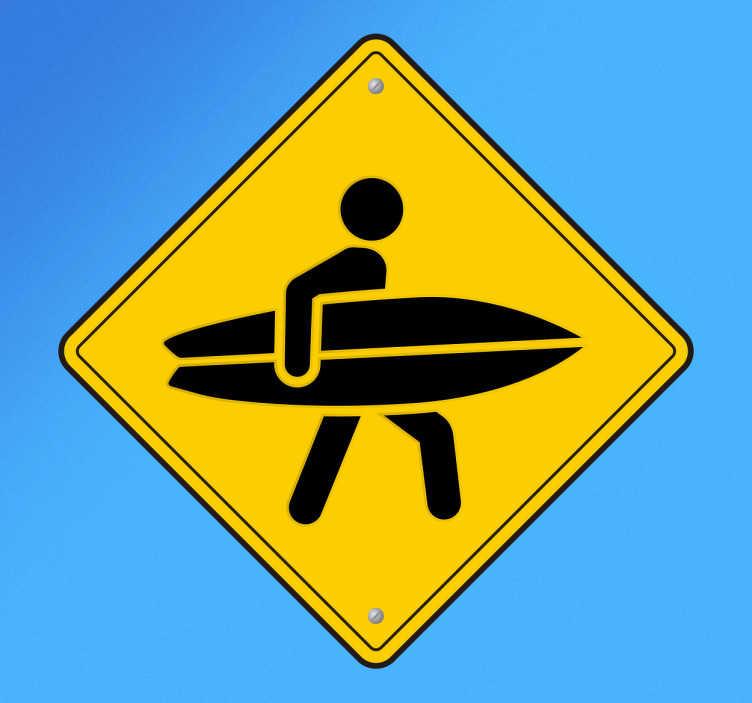Muursticker overstekende surfers