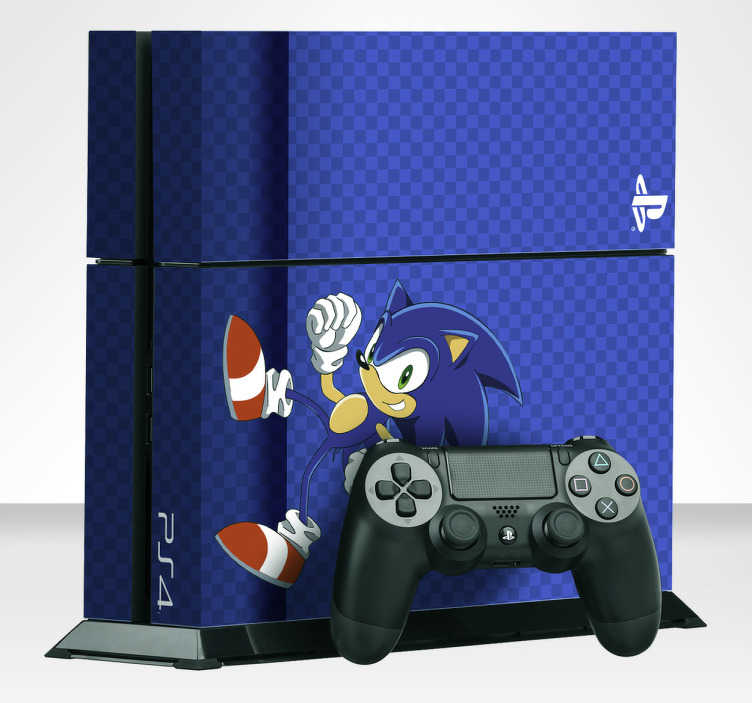 TenStickers. Sticker Console Sonic the Hedgehog. Sticker speciaal voor een Console met het bekende video spel personage Sonic the Hedgehog, personaliseer jouw console met deze unieke sticker.