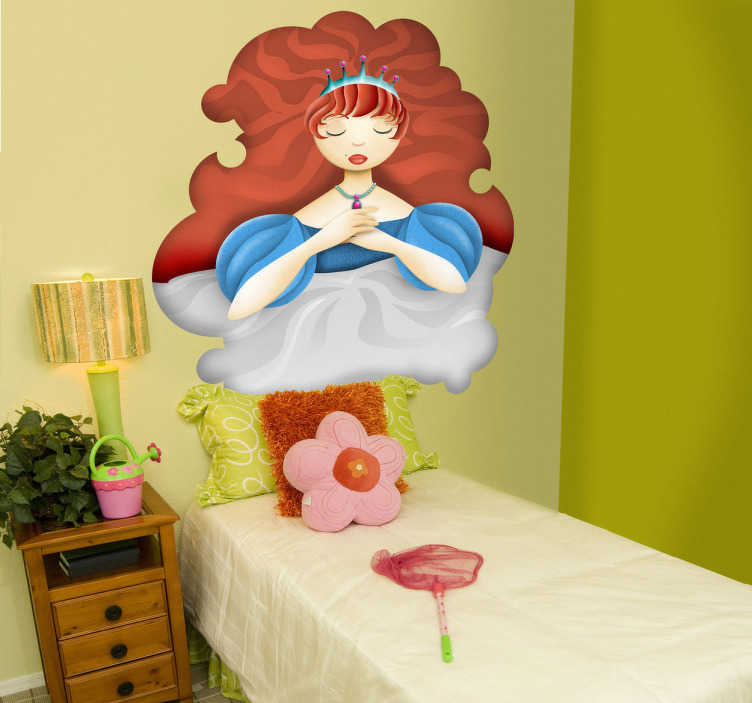 TenStickers. Sleeping Beauty Sticker. Decorative sticker illustrating the sleeping beauty. A fantastic decal to decorate your child´s room. Your child will love it!