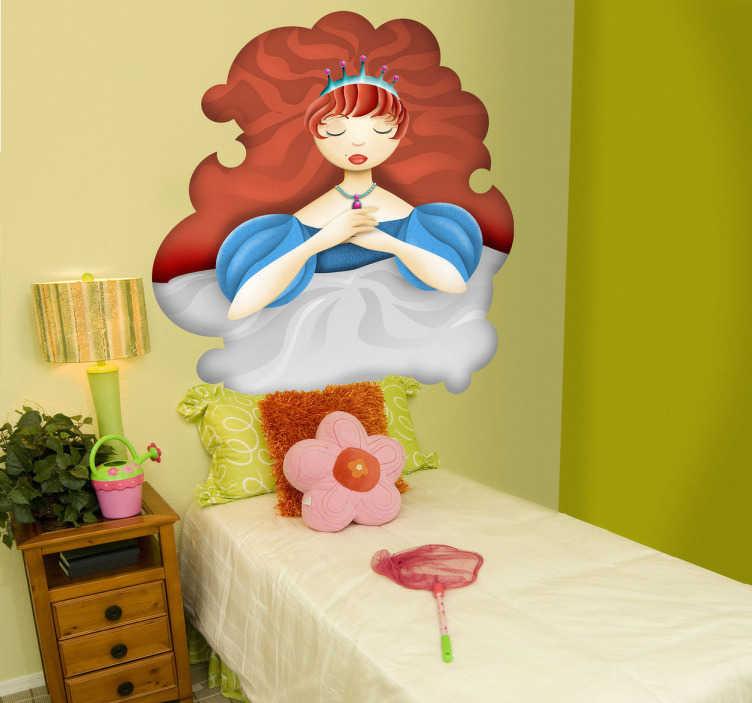 Vinilo infantil bella durmiente