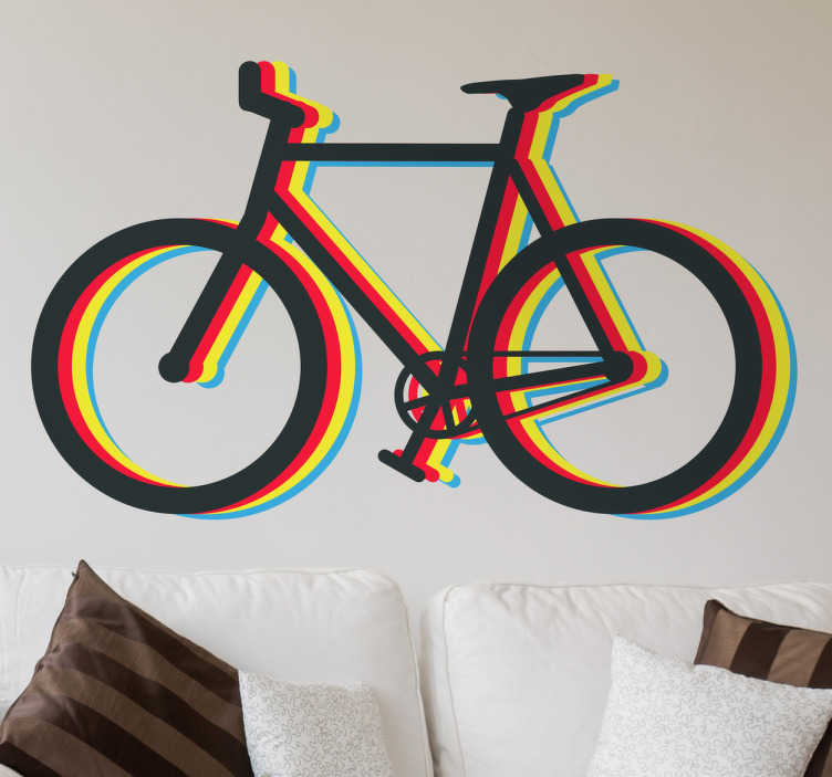 Wandtattoo Fahrrad Multicolor