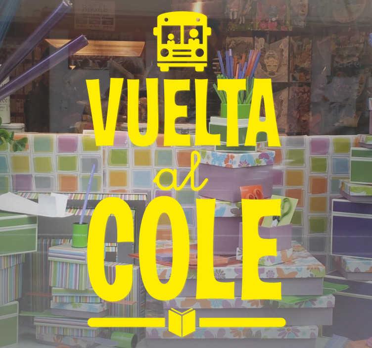 Vinilo Mural Vuelta Al Cole