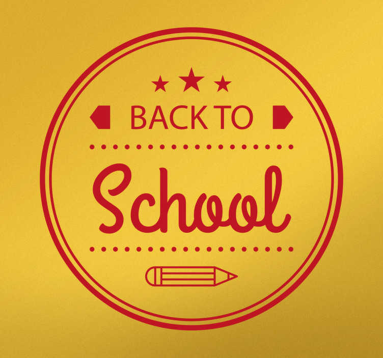 "TenStickers. Wandtattoo Back to School. Dieses Wandtattoo für Kinderzimmer, Jugendzimmer und Klassenzimmer sagt ""Back to School""."