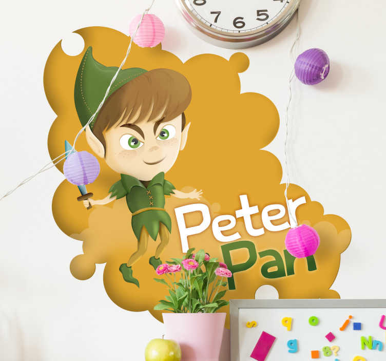 Sticker enfant Peter Pan texte