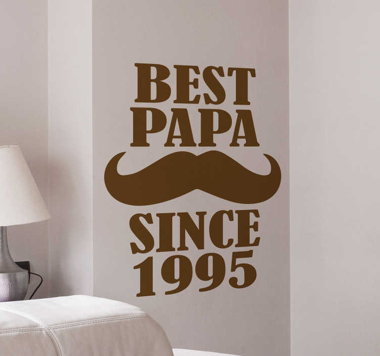 TenStickers. Best Papa Wall Sticker. Personalised sticker. Are you struggling for ideas on what to get for fathers day? Why not try this unique and original wall sticker.