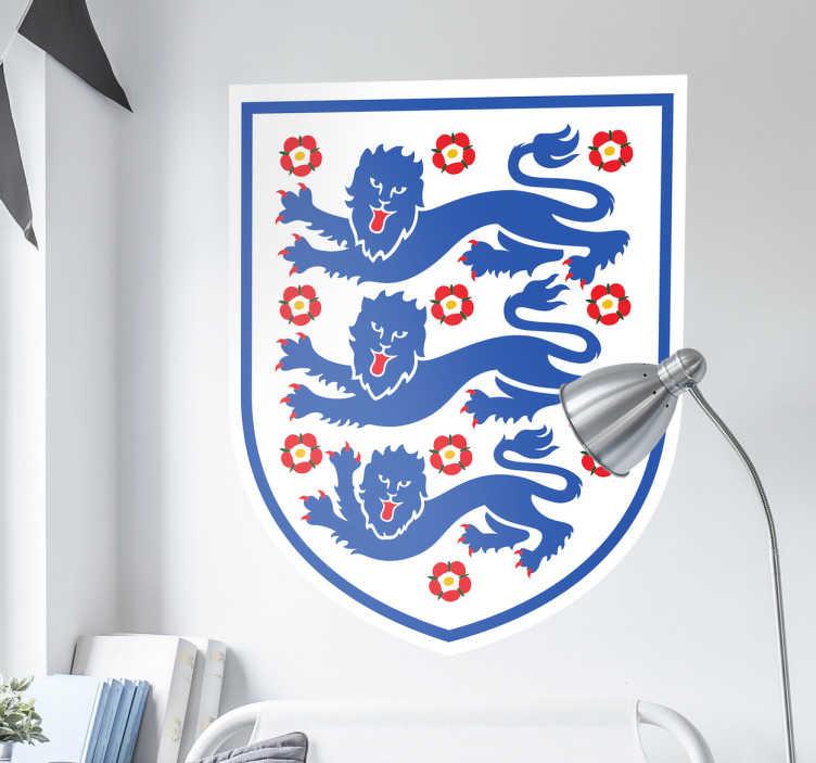 TenStickers. Aufkleber Team England. Dieser Aufkleber zeigt das Logo der englischen Nationalmannschaft. Die drei Löwen sind ein bekanntes Wahrzeichen unserer Freunde von der Insel