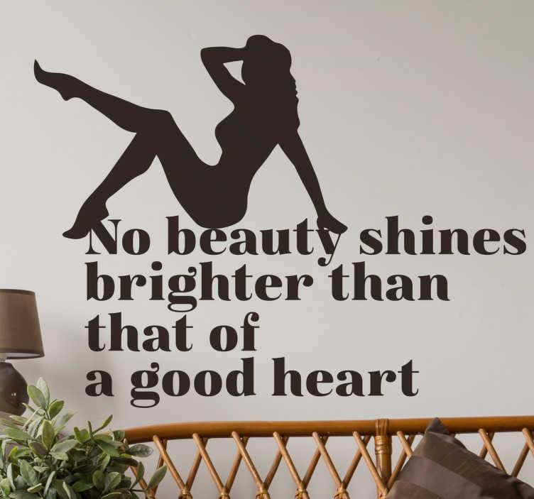 Wandtattoo pinup no beauty shines