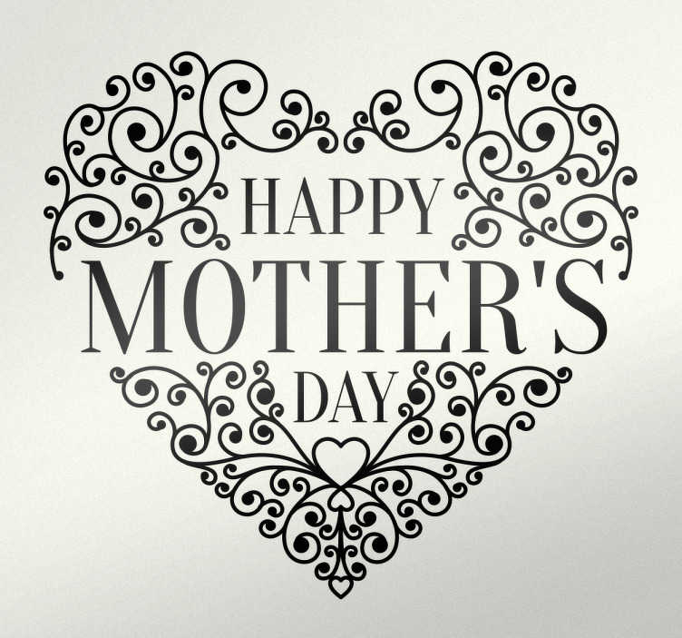 Sticker happy mother's day coeur