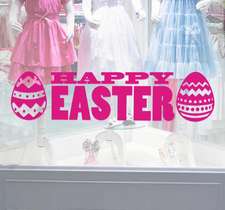 TenStickers. Happy Easter Window Sticker. Happy Easter Window Sticker. Wish everyone you know a happy Easter with this fantastic Easter sticker.