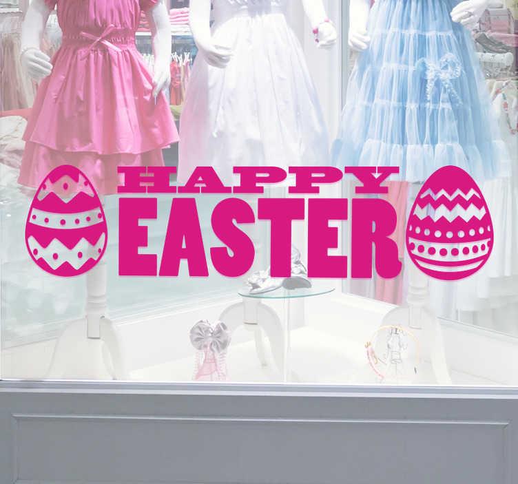 Sticker Happy Easter Paaseieren