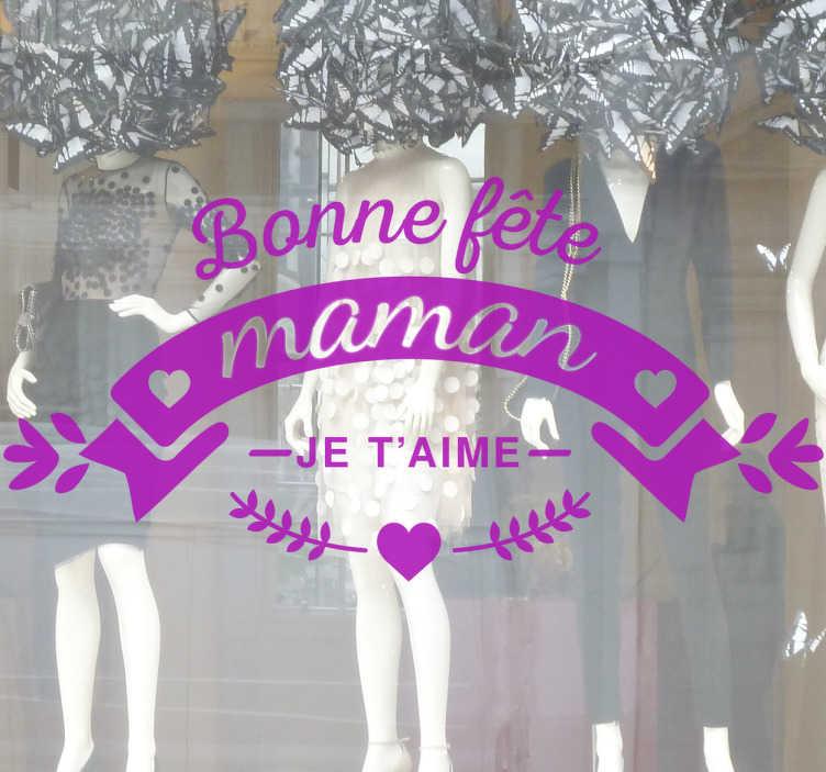 Sticker Monochrome Fête Des Mères Je Taime