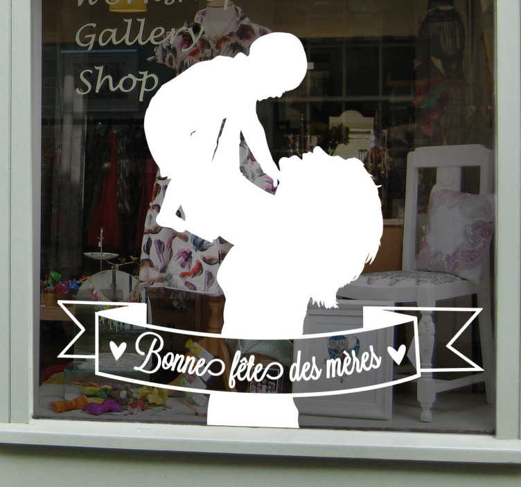 Sticker fête des mères dessin