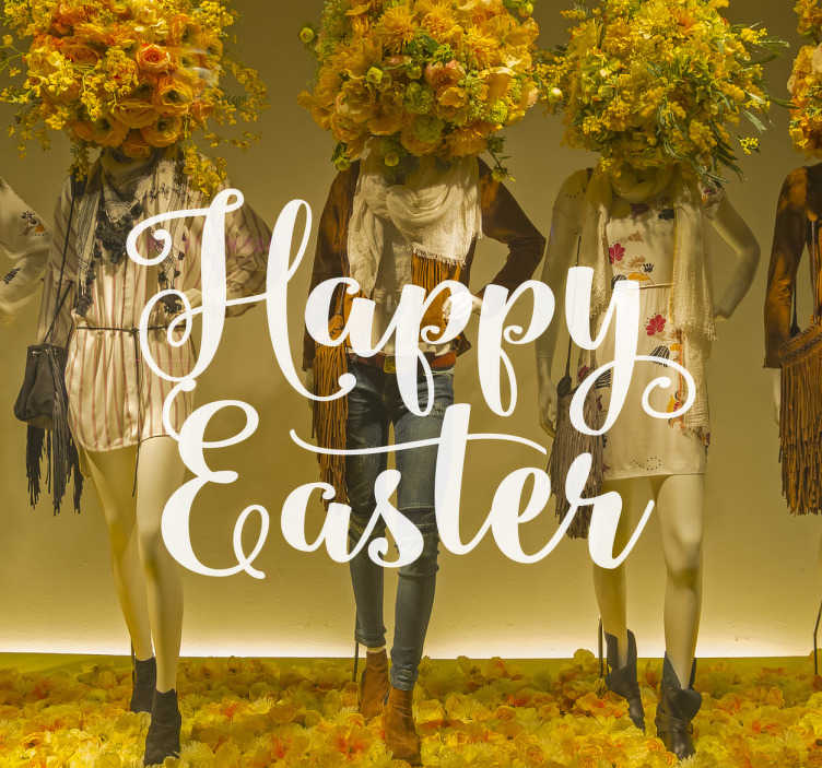 Sticker texte happy easter