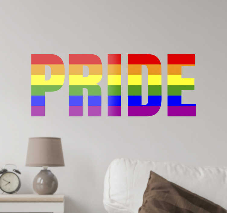 TenStickers. Gay Pride Wall Sticker. Get behind the LGBT community with this wall sticker. Whether you're gay or just support equal rights for everyone this wall sticker is perfect.