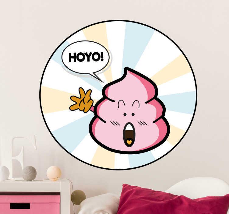 TenStickers. Adesivo murale Cacca Rosa Arale. Adesivo murale con una simpatica illustrazione della tipica cacca rosa di Arale, protagonista dell'anime Dr.Slump.