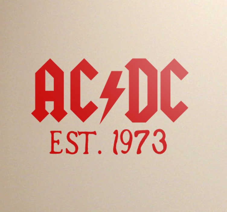 Muursticker ACDC established in 1973
