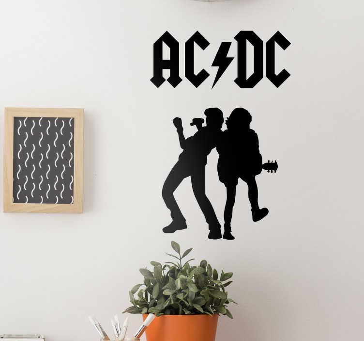 TenStickers. Wandtattoo ACDC Silhouetten. Seit über 40 Jahren machen die Rocker von ACDC jetzt schon die Bühnen dieser Welt unsicher. Wenn Sie auch Fan sind, dann haben wir hier etwas für Sie