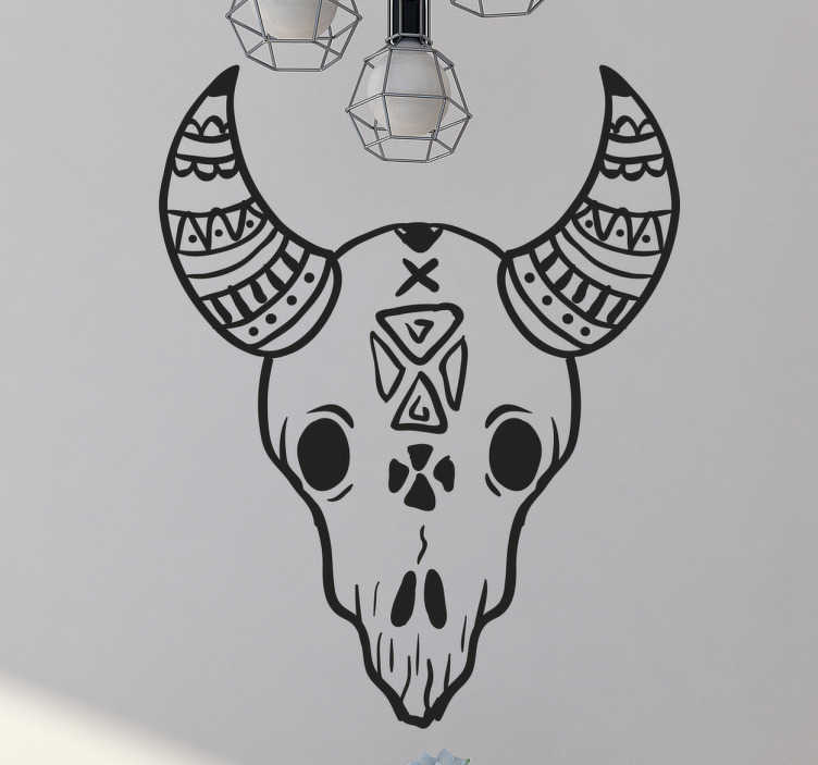 TenStickers. Animal Skull Wall Sticker. Decorate your home with this unique wall sticker. The design consists of a skull of an animal with horns. We use a special adhesive film.