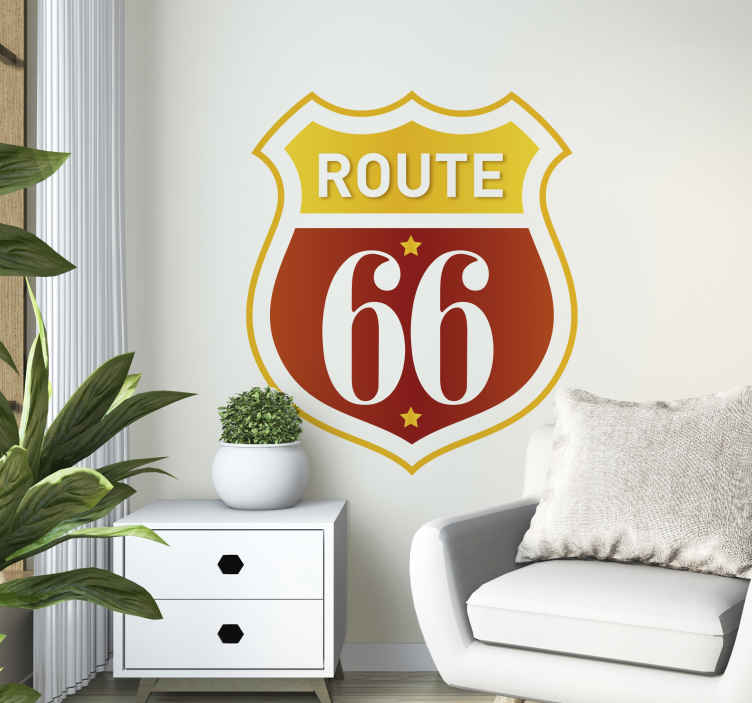 Sticker retro logo Route 66