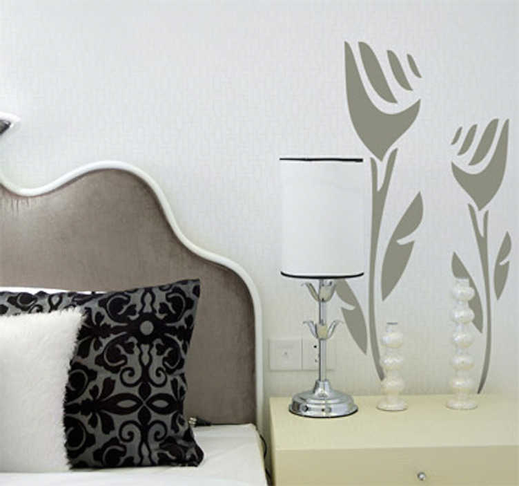 TenStickers. Two Abstract Roses Wall Sticker. Wall Stickers - Decorate your bedroom or living room with roses that will never die.  Available in various colours and sizes to choose from.