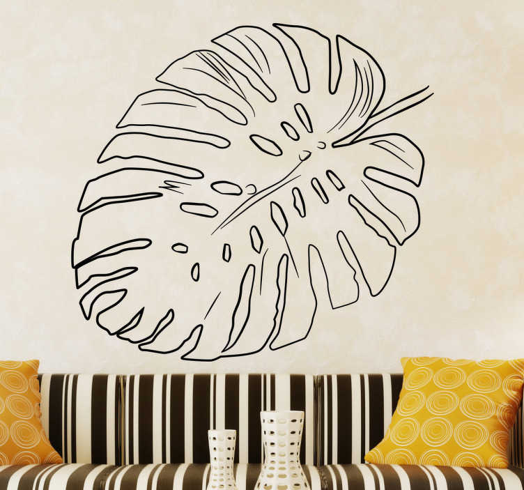 TenStickers. Plant Leaf Outline Design Wall Sticker. This original outline design of a leaf is the perfect on trend decorative wall sticker to decorate your home!