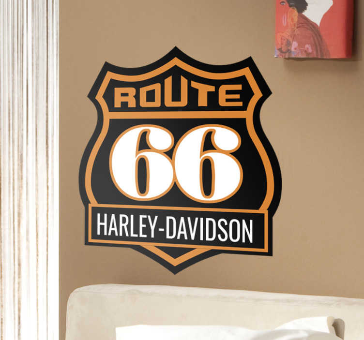 Sticker route 66 Harley Davidson