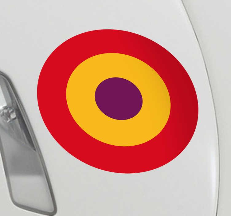 TenVinilo. Pegatina bandera de España Republicana. Pegatina Bandera España Republicana, ideales para decorar por ejemplo el maletero de tu coche o uno de sus laterales.