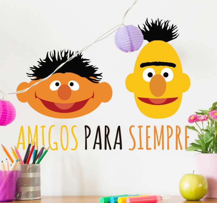 TenVinilo. Vinilo infantil Epi y Blas. Vinilos Barrio Sésamo con tus dos personajes preferidos de tu programa de televisión favorito de los años 80.