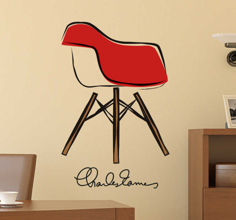 Sticker architecture chaise Eames