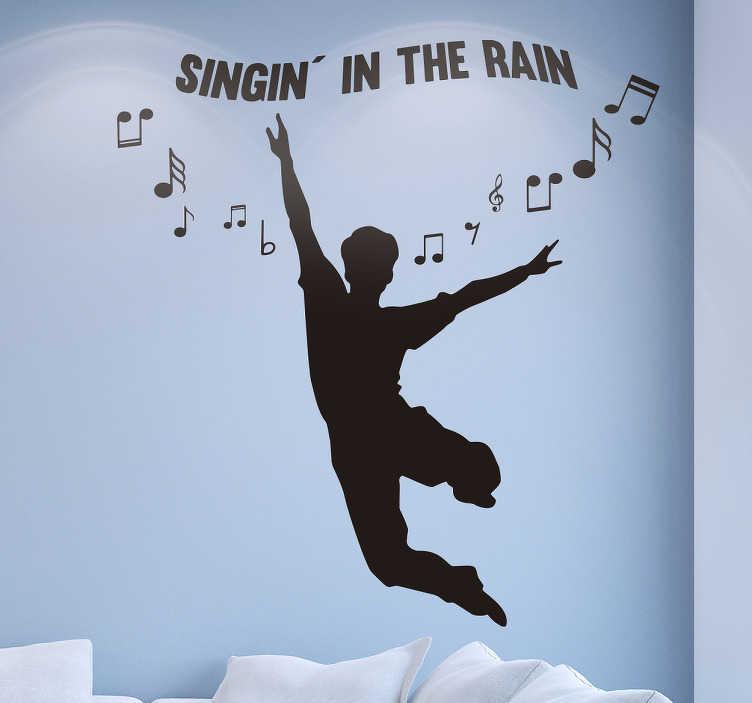 Wandtattoo Junge Singing in the Rain