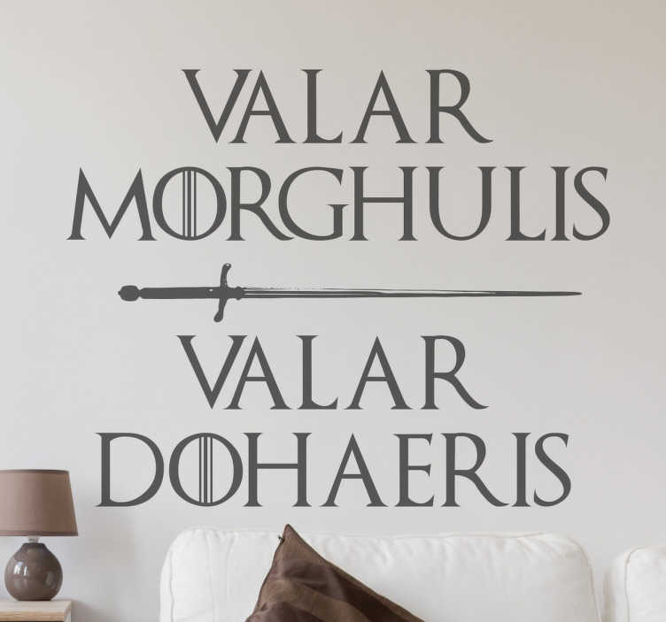 Sticker Game of Thrones Valar