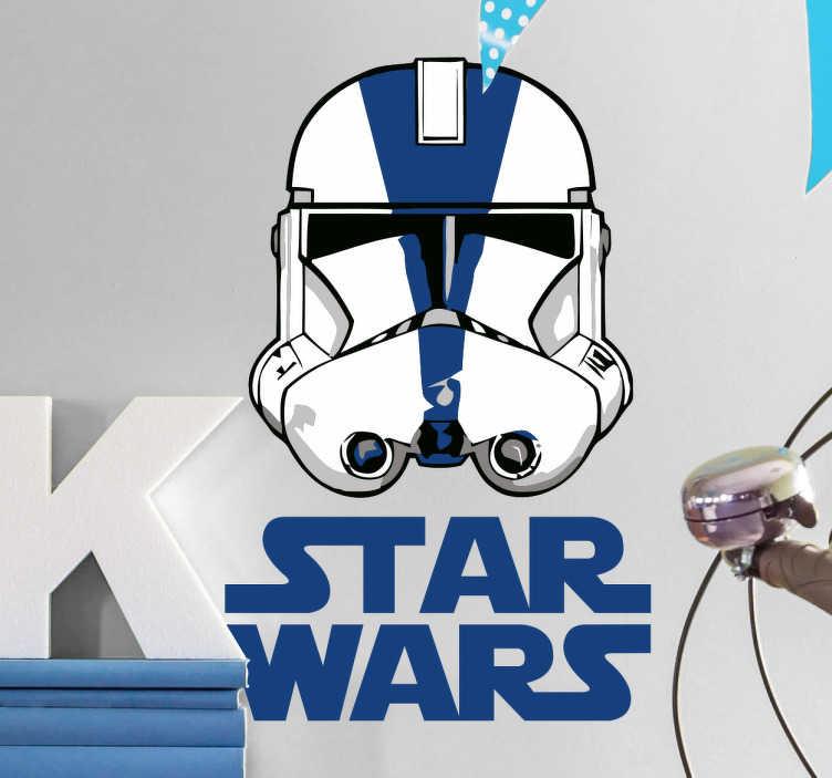 TenVinilo. Vinilo Star Wars Clone troopers. Vinilo barato de calidad contrastada que muestra la ilustración de la cara de Stormtrooper