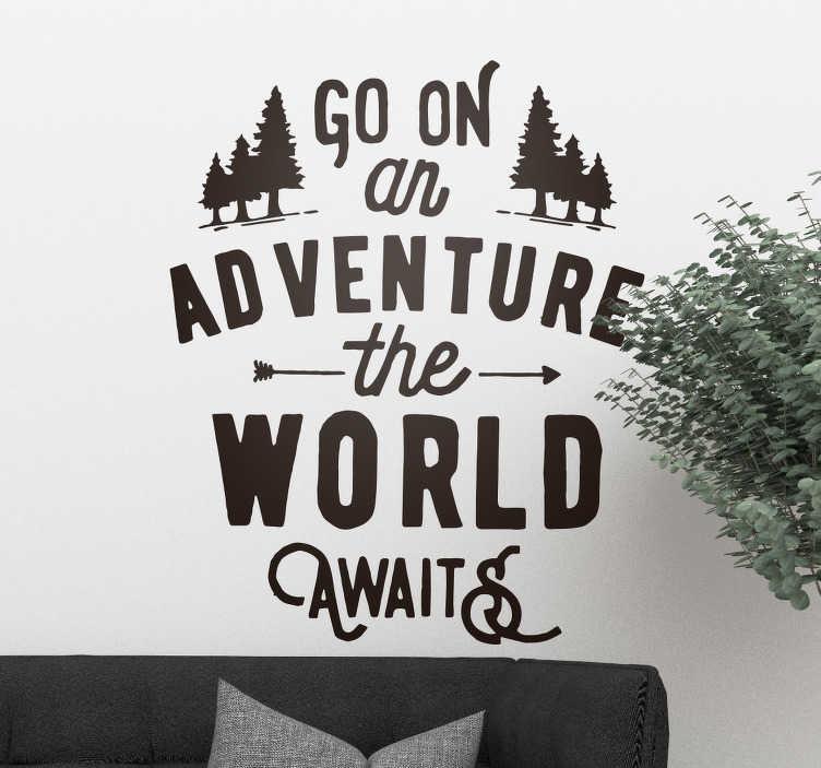 TenStickers. Wandtattoo Deko Wald. Dieses dekorative Wandtattoo zeigt einen stilisierten Wald mit vielen kleinen Details und Spielereien
