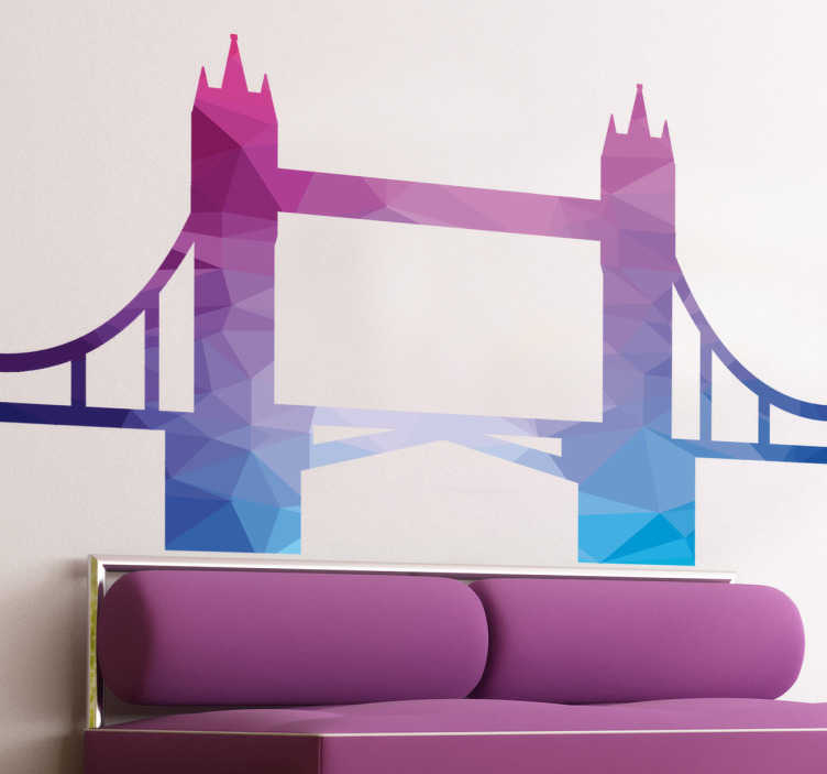 TenStickers. Multicoloured London Bridge Wall Sticker. Vibrant high quality London Bridge wall sticker for personalizing your living room, bedroom and more. Colourful wall sticker is ideal for brightening up any room in your home.