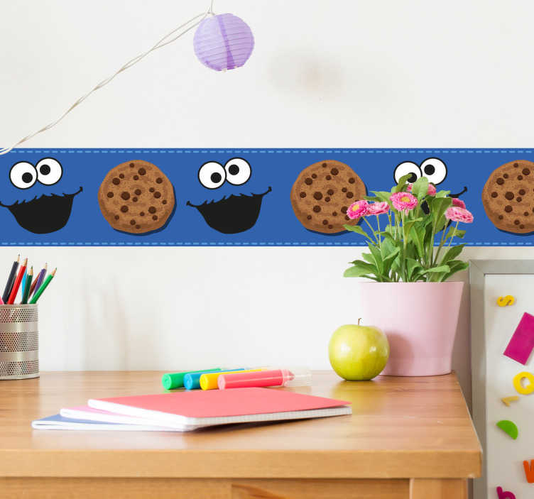 Muursticker lange cookie monster