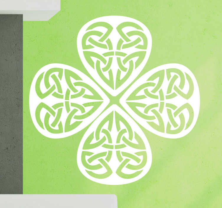 Vinilo símbolos celtas forma trébol