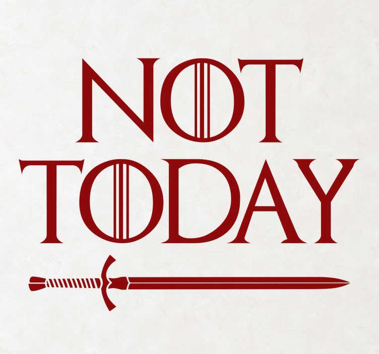 Vinilo Juego de Tronos Not Today