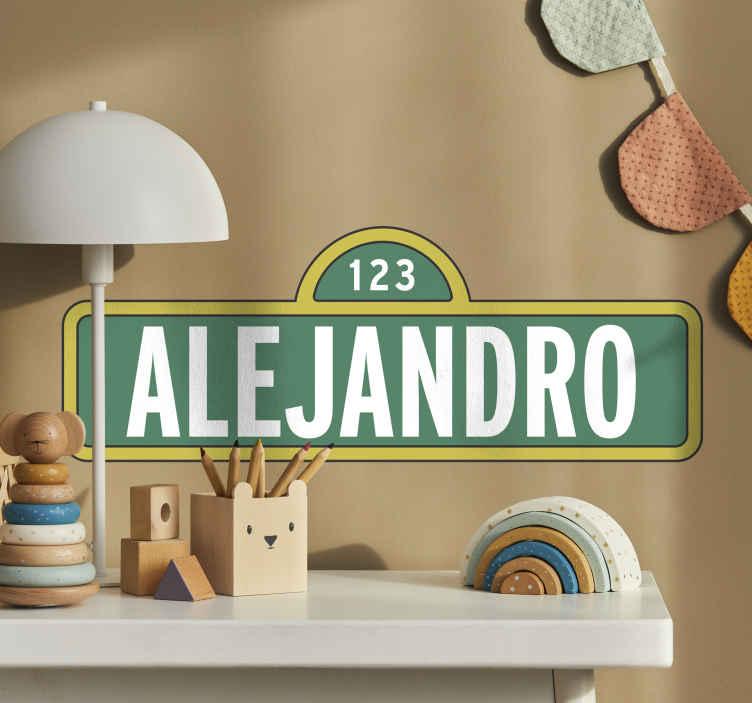 TenStickers. Naklejka personalizowana imienna. Naklejka personalizowana na której możesz wpisać imię swojego dziecka.