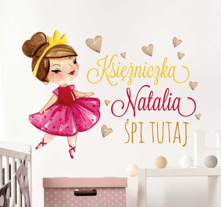Naklejka na ścianę Księżniczka Natalia Śpi Tutaj