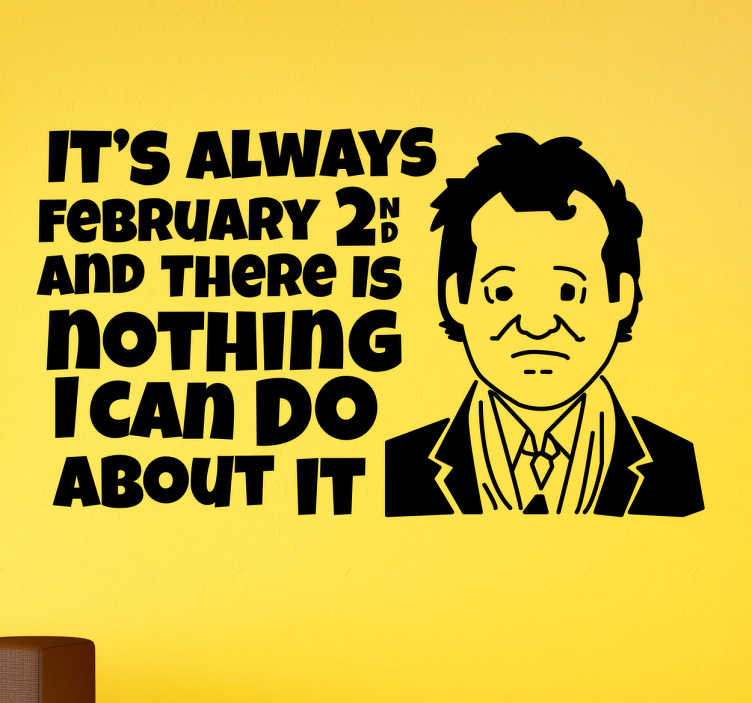 Adesivo Bill Murray febbraio