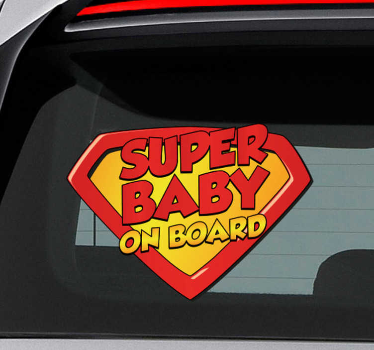 Sticker superbaby on board