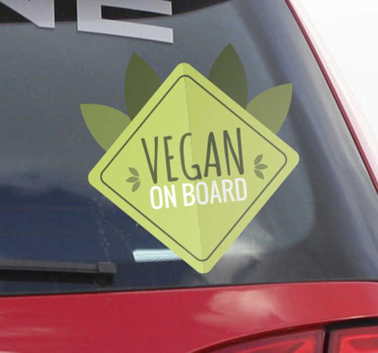 Sticker vegan on board