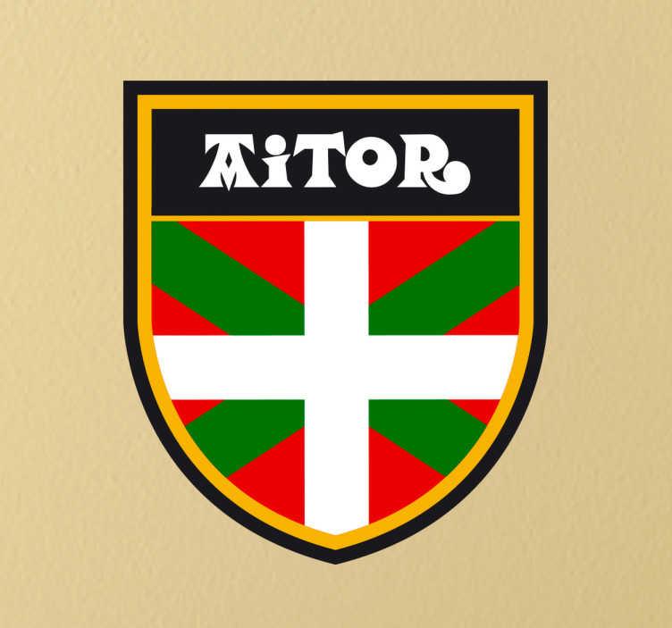 Sticker personnalisable écusson Pays Basque