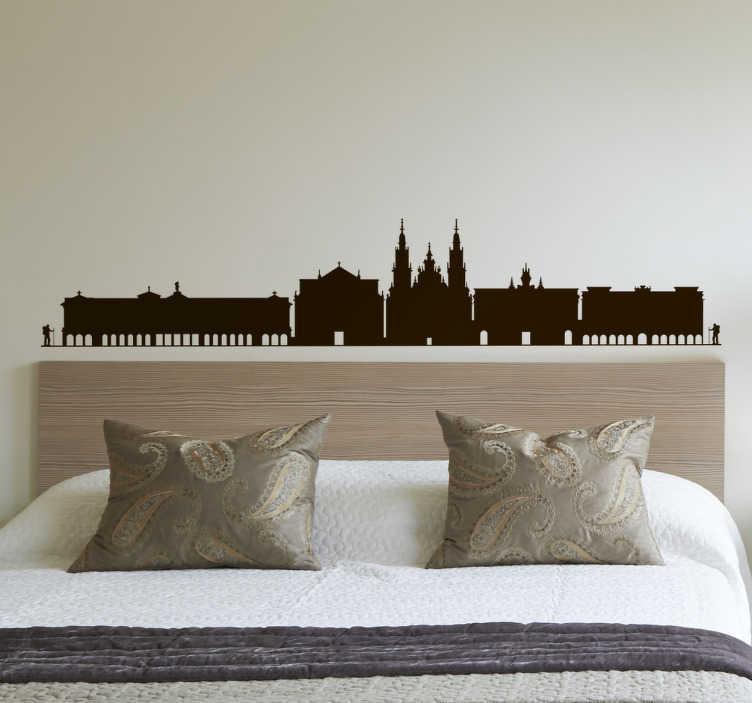 Skyline klistermærke Santiago de Compostela