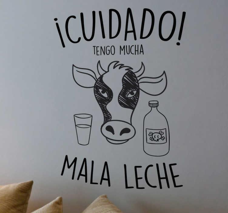 Vinilo cuidado mala leche