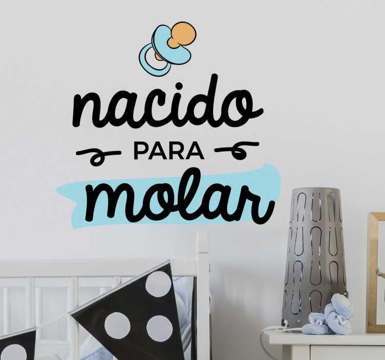 TenVinilo. Vinilo infantil nacido para molar. Vinilos para dormitorios infantiles, para decorar el cuarto de recién nacidos con un diseño original y divertido.