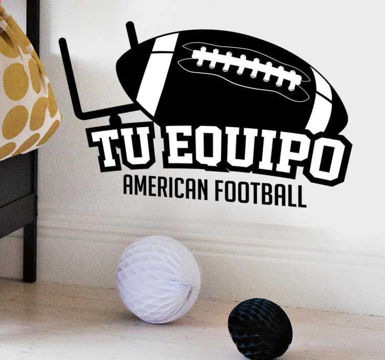 TenVinilo. Vinilo personalizable equipo football. Vinilos deportivos con nombre personalizable para aficionados del fútbol americano, disciplina tan popular en Estados Unidos.