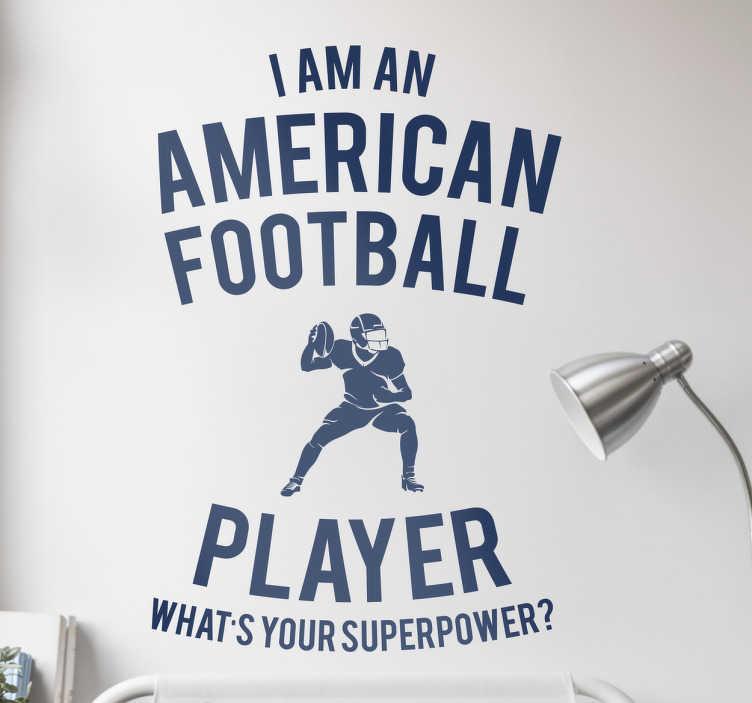 TenStickers. Naklejka każdego gracza Footballu. Naklejka dekoracyjna dla każdego gracza Footballu Amerykańskiego.