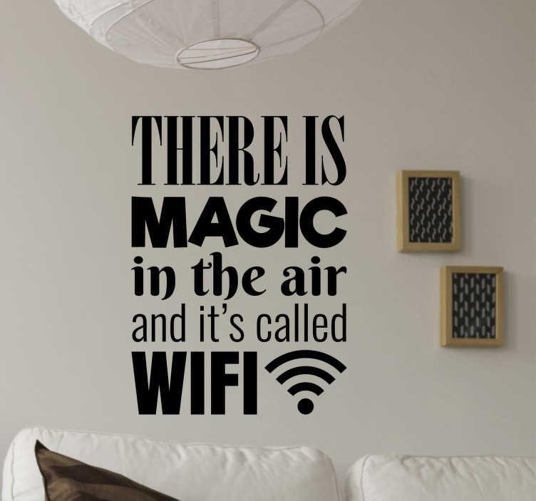 Adesivo decorativo luogo magico wifi