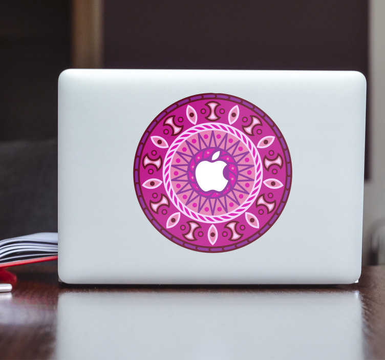 Naklejka na MacBooka mandala